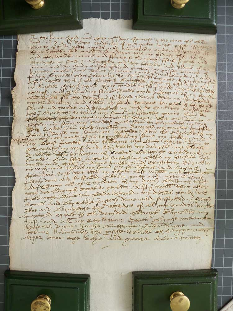 Will of Roger Radford 1575